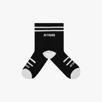 Attaquer chaussettes double rayures noir