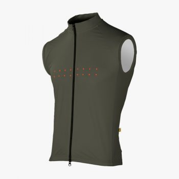 The Pedla gilet Full Wind Cheater Core olive