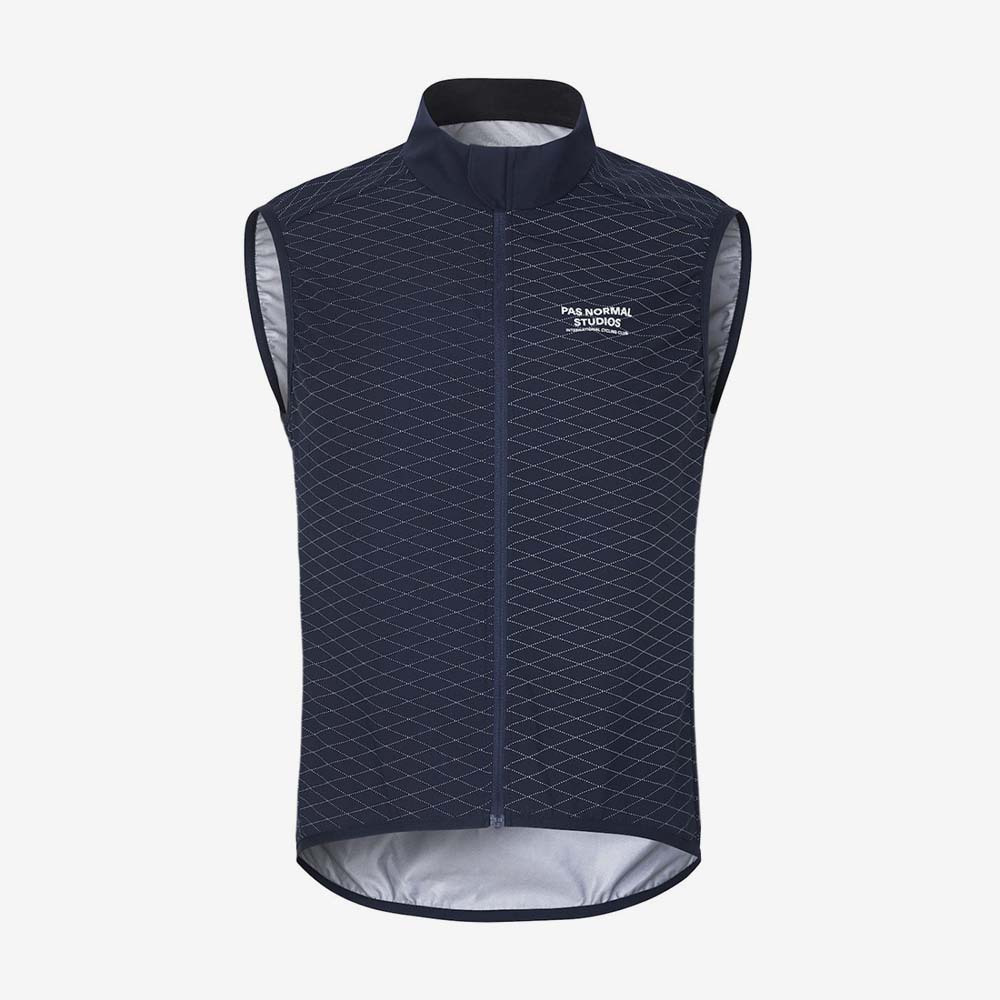 Pas Normal Studios gilet Shield bleu marine