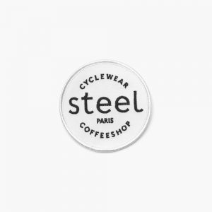 Steel Cyclewear patch blanc