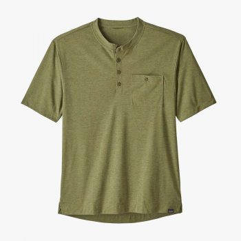 Patagonia t-shirt Capilene® Cool Trail Bike Henley willow herb green