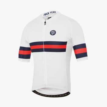 Attaquer maillot All Day Club Cycling tri-stripe blue navy/red
