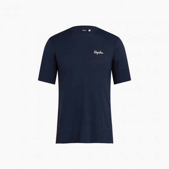 Rapha T-Shirt Explore Merino Dark Navy
